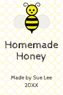 Food Label - Honey