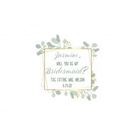 Wedding Wine Hang Tag - Botanical Frame