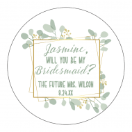 Wedding Label - Botanical Frame