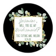 Wedding Label - Botanical Frame