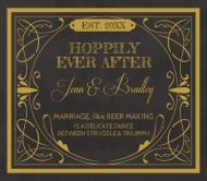Wedding Beer Label - Hoppily Married