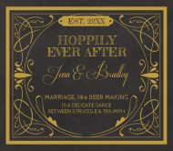 Wedding Beer Can Label - Hoppily Married