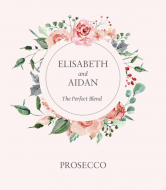 Wedding Champagne Label - Forever Roses