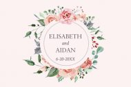 Wedding Mini Champagne Label - Forever Roses