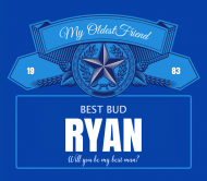 Wedding Beer Can Label - Best Bud