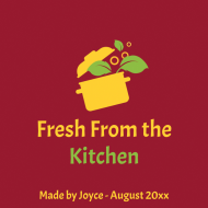 Food Label - Fresh From The Kitchen