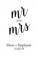 Wedding Large Wine Label - Names