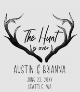 Wedding Wine Label - The Hunt Is Over