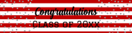 Graduations Custom Label Bottled Water - Graduation Confetti Stripes