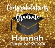 Graduations Beer Label - Graduation Gold Glitter