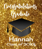 Graduations Wine Label - Graduation Gold Glitter