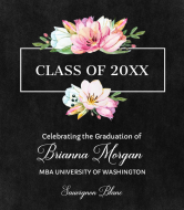 Graduations Wine Label - Graduation Bouquet