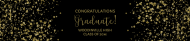 Graduations Water Bottle Label - Gold Graduate