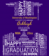Graduations Wine Label - Graduation Letters