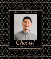 Graduations Wine Label - Geometric Graduation Frame