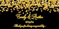 Wedding Sticker - Gold Confetti
