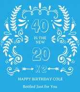 Birthday Wine Label - The New 20
