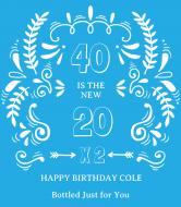 Birthday Wine Label - The New 20
