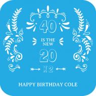 Birthday Drink Coaster - The New 20