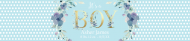 Baby Water Bottle Label - It's a Boy Letters