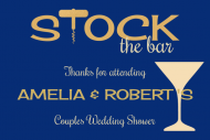 Wedding Mini Wine Label - Stock the Bar