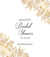 Wine Label - Gilded Bouquet