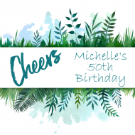 Birthday Growler Label - Watercolor Botanical