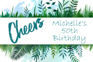 Birthday Mini Champagne Label - Watercolor Botanical