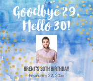 Birthday Beer Can Label - Goodbye Twenties