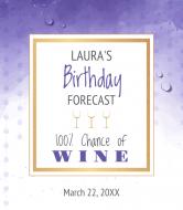 Birthday Wine Label - Birthday Forecast