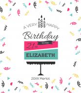 Birthday Wine Label - Layer Cake
