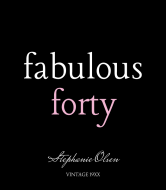 Birthday Wine Label - Fabulous Forty