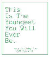 Birthday Wine Label - Youngest