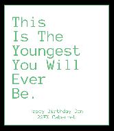 Birthday Wine Label - Youngest