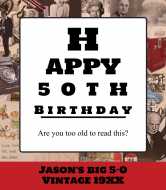 Birthday Wine Label - Vision Test