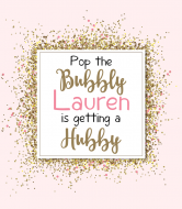 Wedding Champagne Label - Pop The Bubbly
