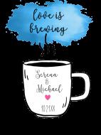 Wedding Sticker - Love is Brewing