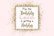 Wedding Large Wine Label - Pop The Bubbly