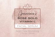 Dropper Bottle Label - Facial Serum