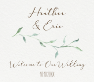 Wedding Beer Label - Sage Leaves