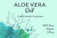 Dropper Bottle Label - Aloe Vera Oil