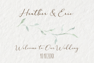 Wedding Mini Champagne Label - Sage Leaves