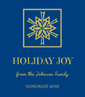 Holiday Wine Label - Gold Snow