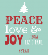 Holiday Wine Label - Peace Joy Love