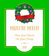 Holiday Wine Label - Mistletoe Merlot