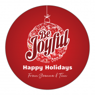 Holiday Sticker - Be Joyful