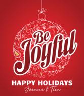 Holiday Wine Label - Be Joyful