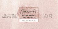 Dropper Bottle Label - Facial Serum