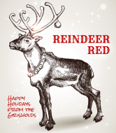 Holiday Wine Label - Reindeer Red