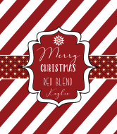 Holiday Wine Label - Merry Christmas